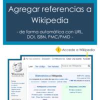 Agregar una referencia automática a Wikipedia