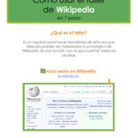 Cómo usar el taller de Wikipedia